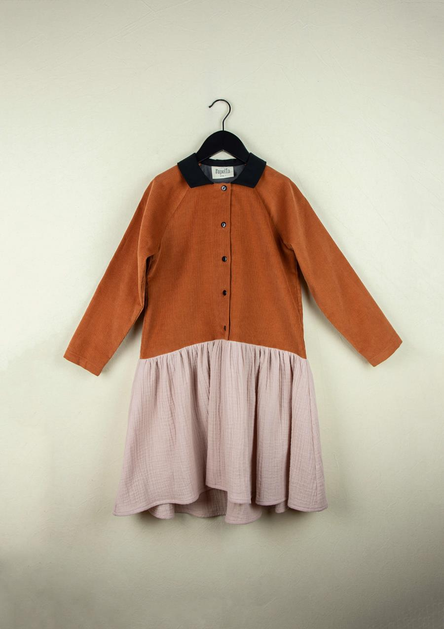 Mod.25.3 Orange dress with raglan sleeve |  AW20.21 Mod.25.3 Orange dress with raglan sleeve