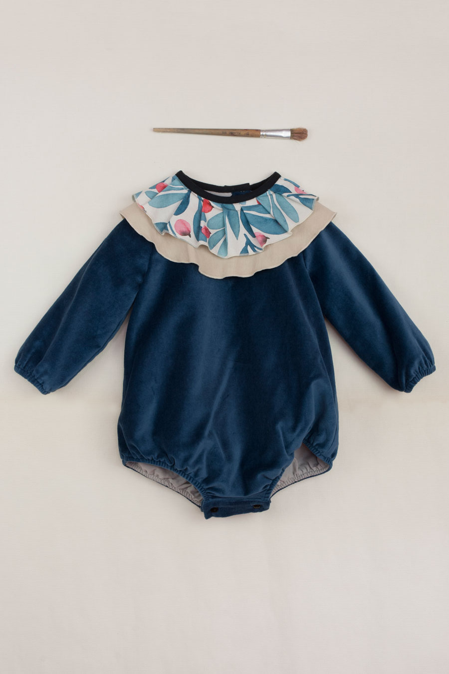 Mod.4.2 - Blue Ruffled Romper Suit | AW18.19-Mod.4.2 - Blue Ruffled Romper Suit