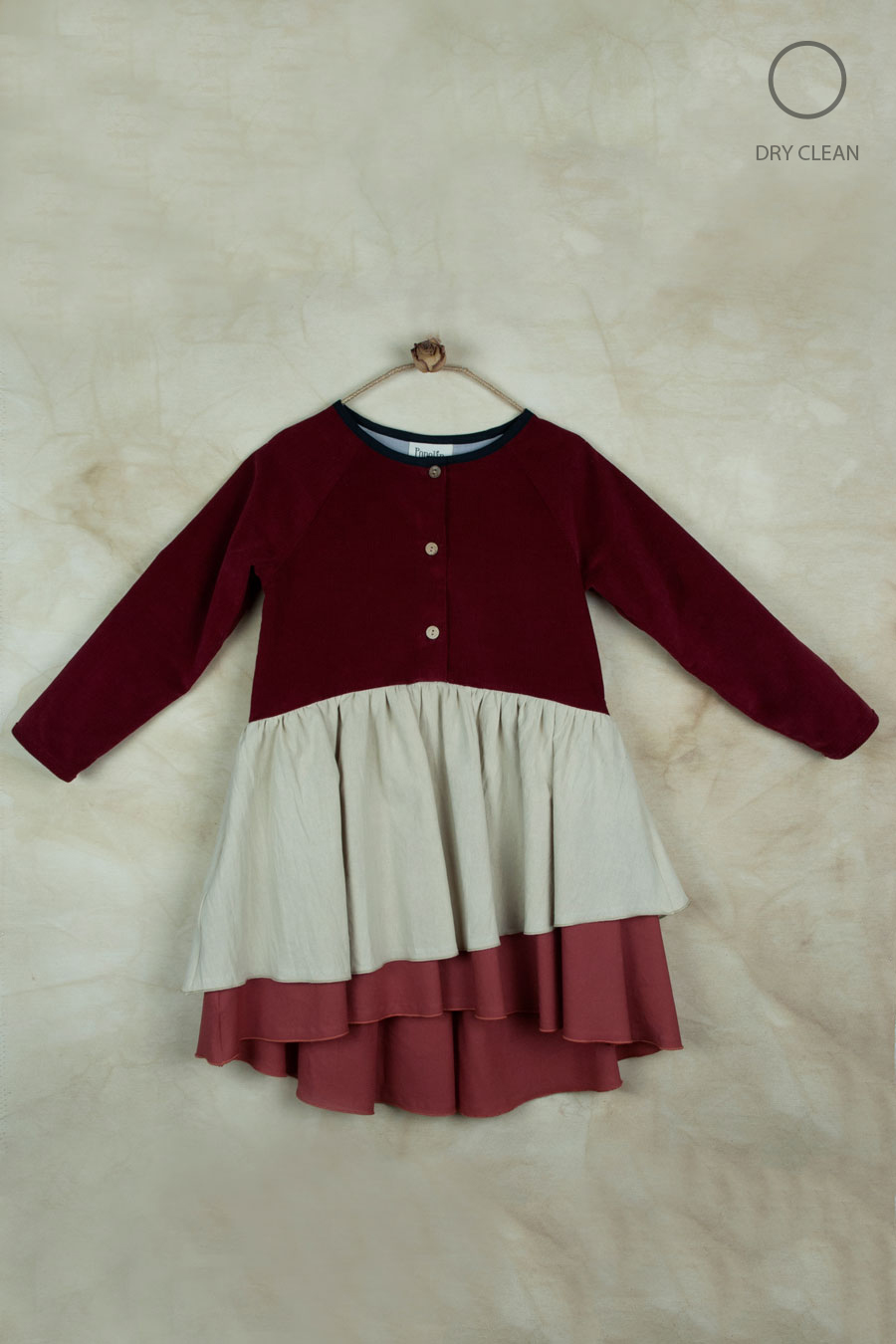 Mod.21.3 - Burgundy Dress with Raglan Sleeve | AW18.19-Mod.21.3 - Burgundy Dress with Raglan Sleeve