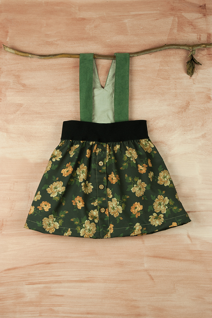Mod.10.1 Floral print skirt with straps | AW017.18 Mod.10.1 Floral print skirt with straps
